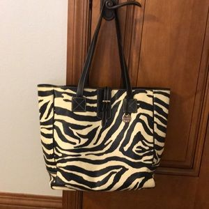 Dooney and Bourke leather zebra tote